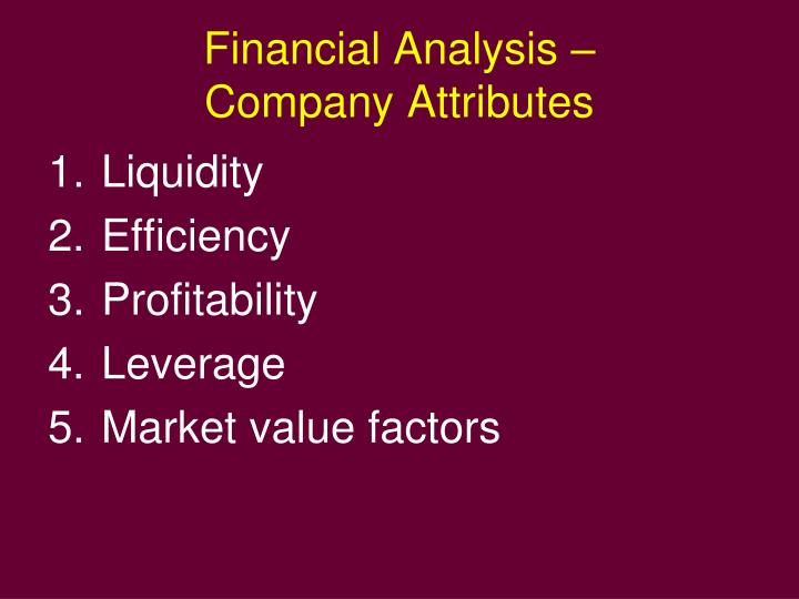 Financial analysis company attributes