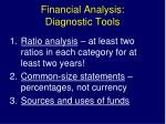 financial analysis diagnostic tools