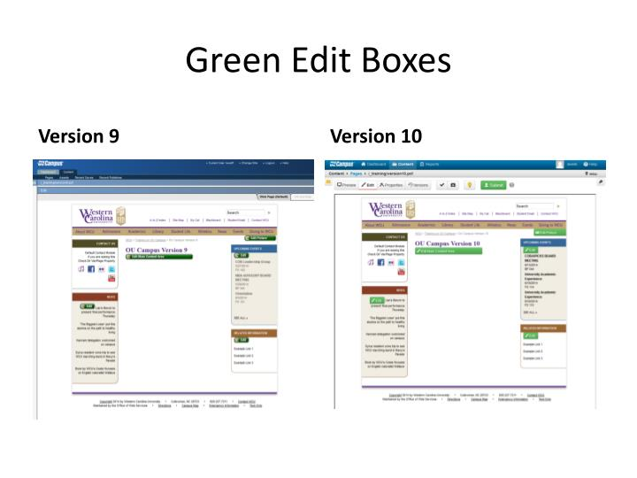 Green Edit Boxes