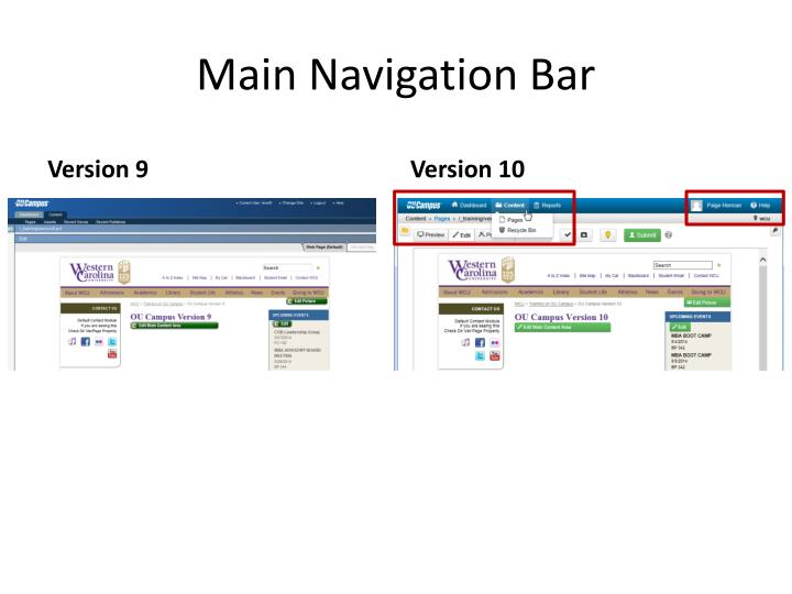 Main navigation bar
