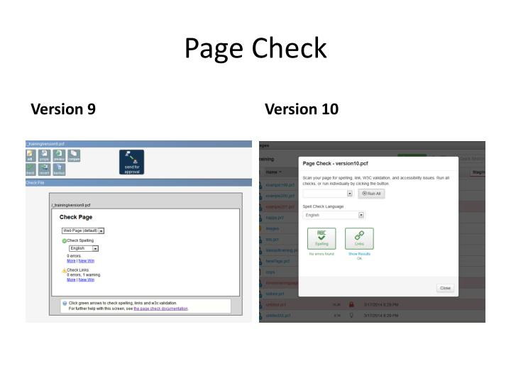 Page Check