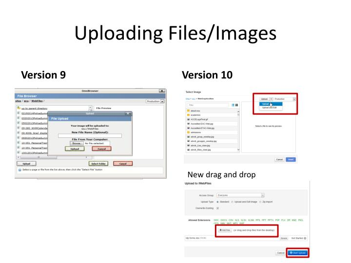 Uploading Files/Images