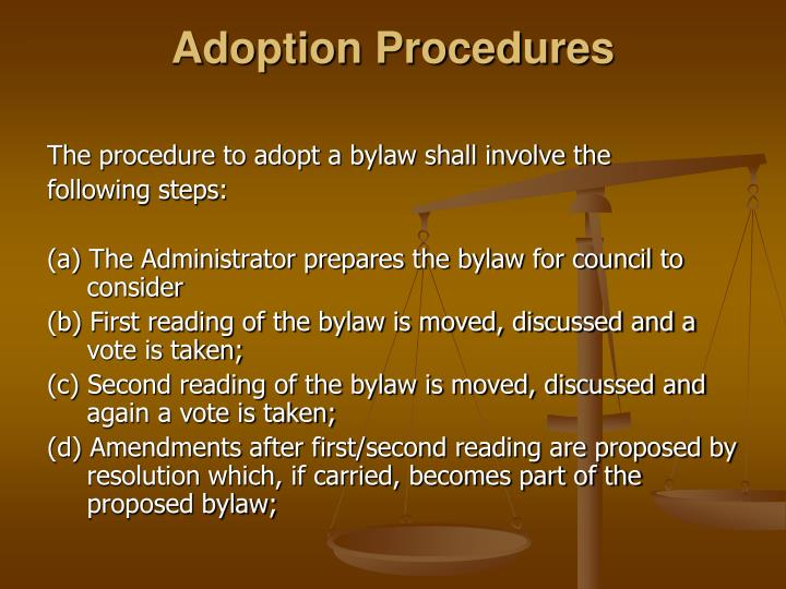 Adoption Procedures