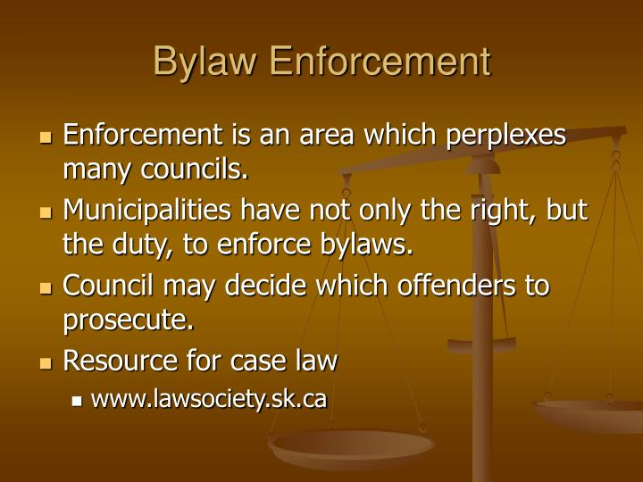 Bylaw Enforcement