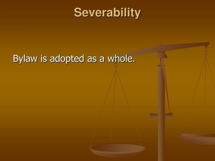 Severability