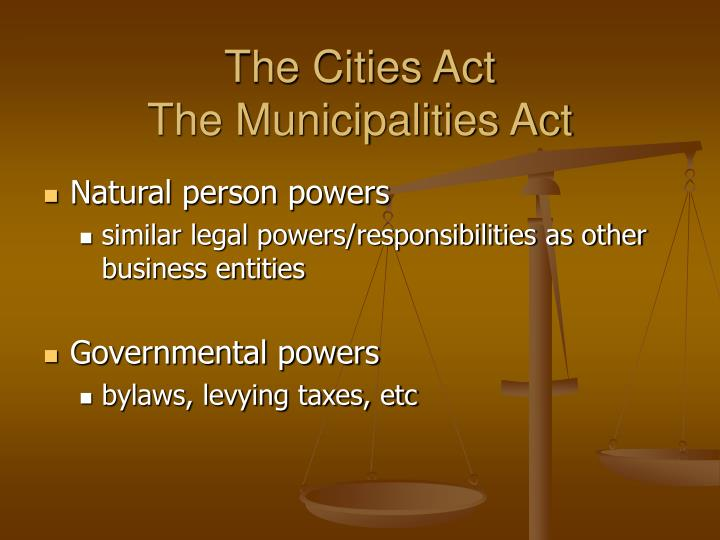 The Cities Act