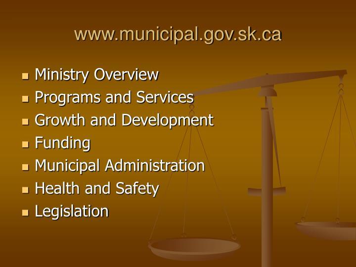 www.municipal.gov.sk.ca
