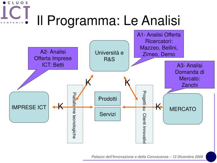 Il Programma: Le Analisi