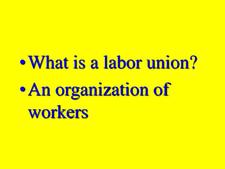 What is a labor union?