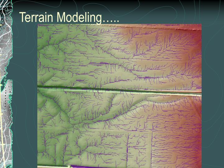 Terrain Modeling…..