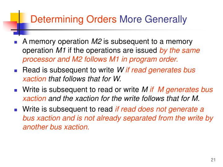 Determining Orders