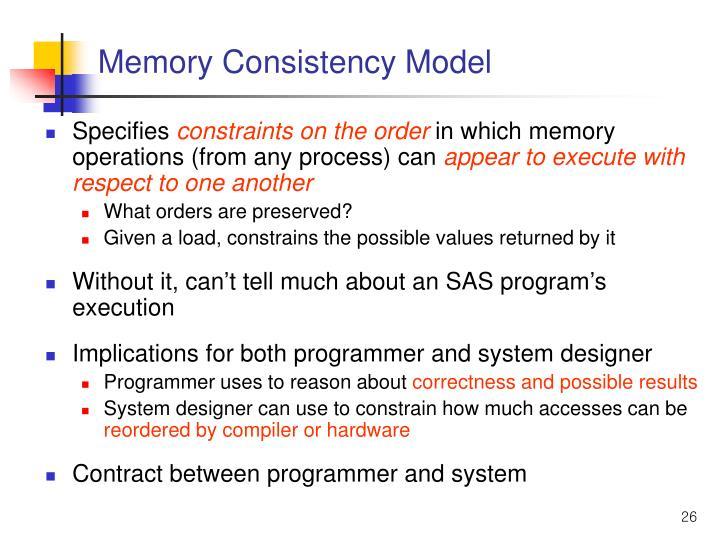 Memory Consistency Model
