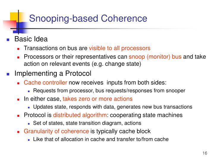 Snooping-based Coherence