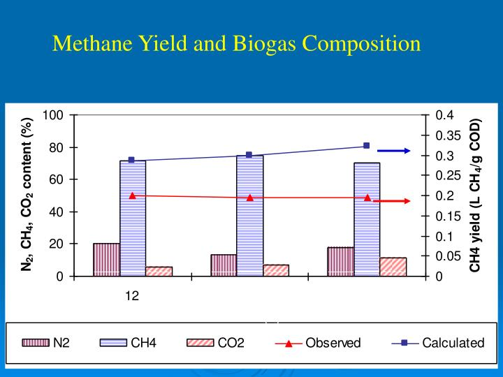 Methane Yield and Biogas Composition