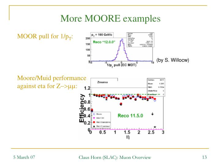 More MOORE examples