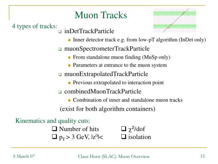 Muon Tracks