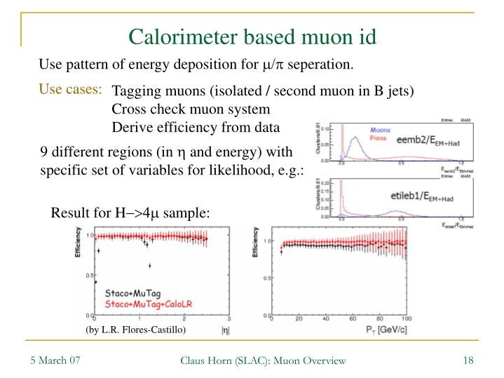 Calorimeter based muon id