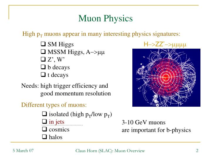 Muon Physics