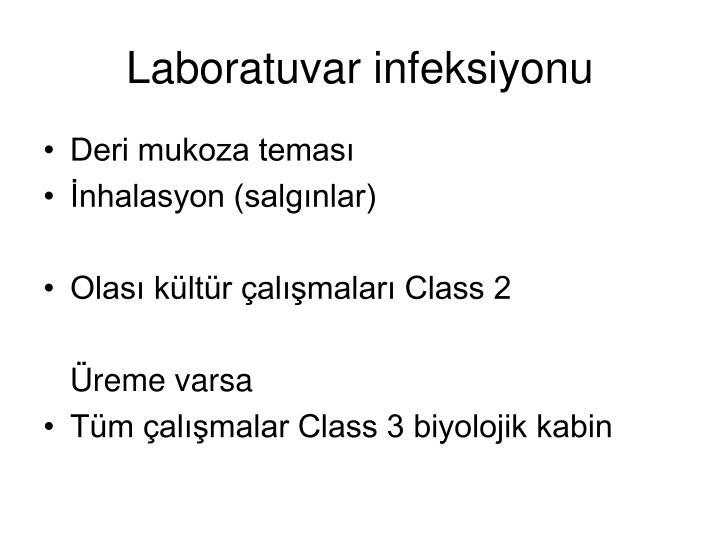 Laboratuvar infeksiyonu