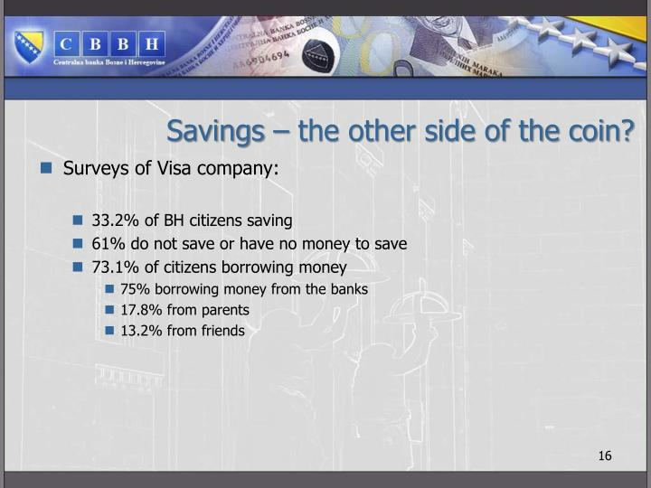Savings – the other side of the coin?