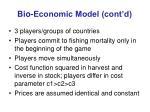 bio economic model cont d