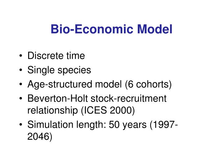 Bio-Economic Model