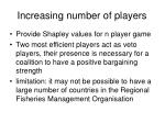 increasing number of players