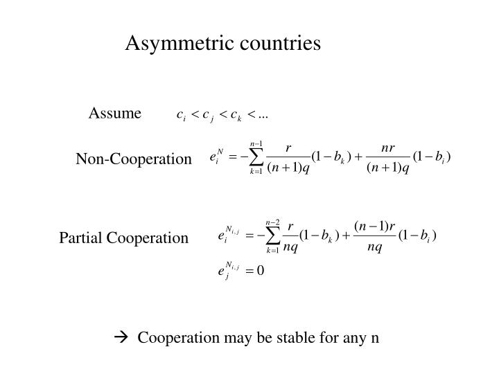 Asymmetric countries