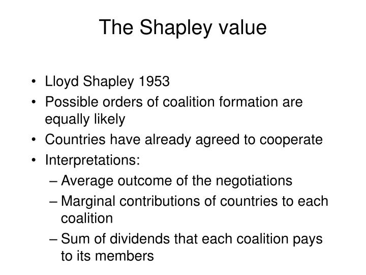 The Shapley value