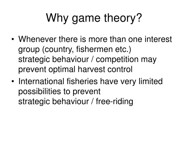 Why game theory