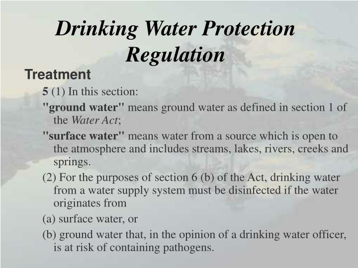 Drinking Water Protection Regulation