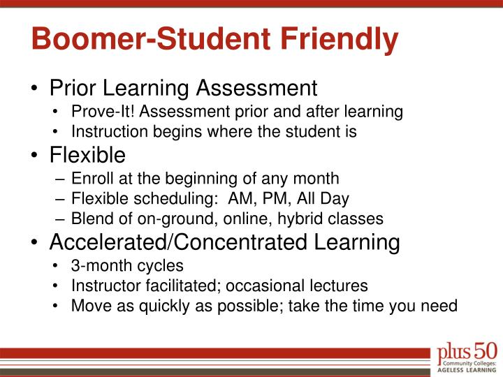 Boomer-Student Friendly