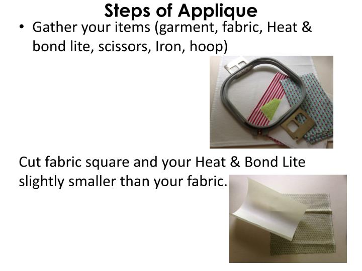 Steps of Applique
