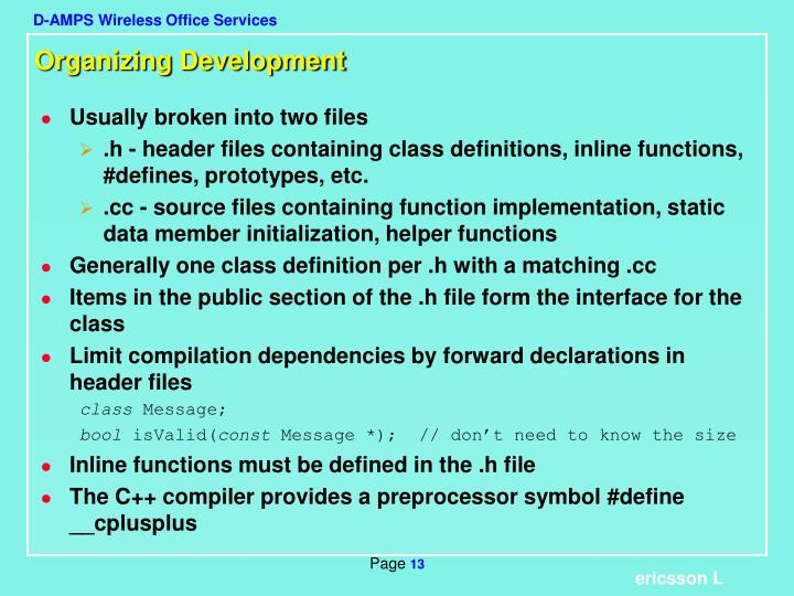 Organizing Development