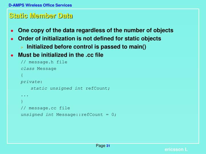 Static Member Data