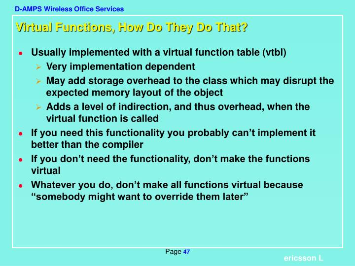 Virtual Functions, How Do They Do That?
