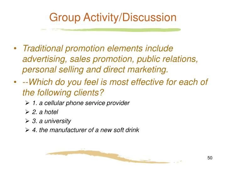 Group Activity/Discussion