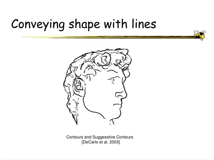 Conveying shape with lines