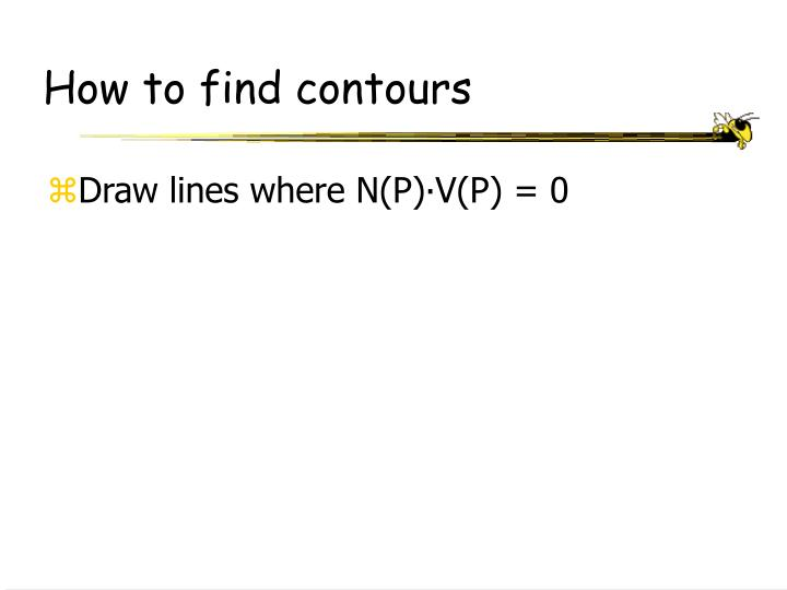 How to find contours
