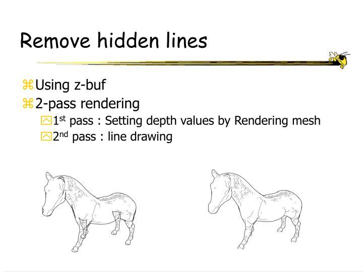 Remove hidden lines
