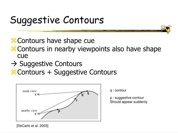Suggestive Contours