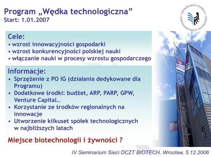 """Program """"Wędka technologiczna"""""""