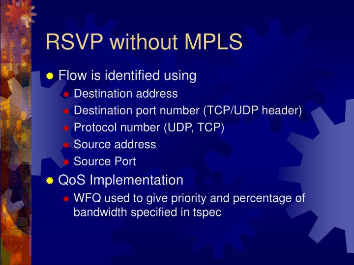 RSVP without MPLS