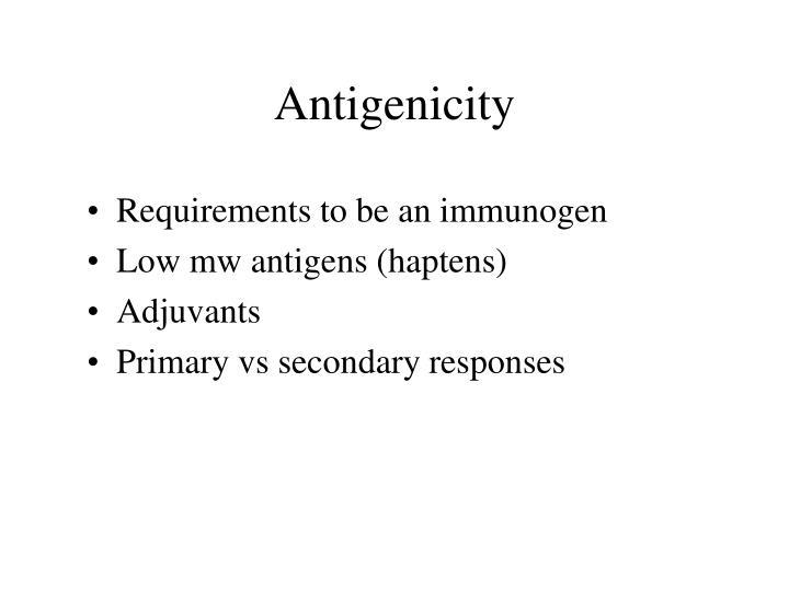 Antigenicity