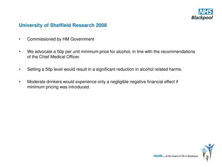 University of Sheffield Research 2008