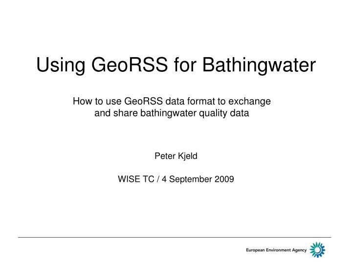 using georss for bathingwater