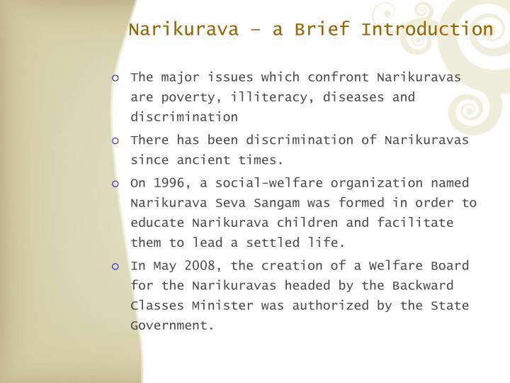 Narikurava – a Brief Introduction