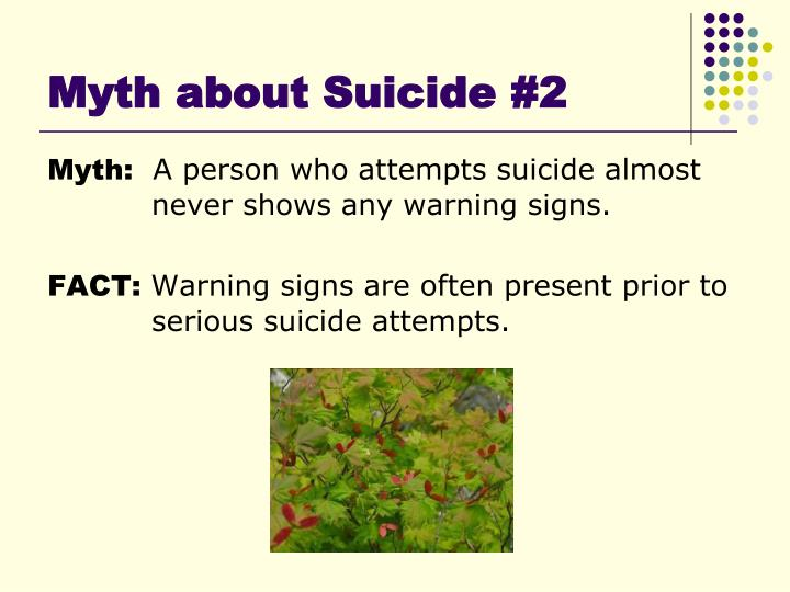 Myth about Suicide #2