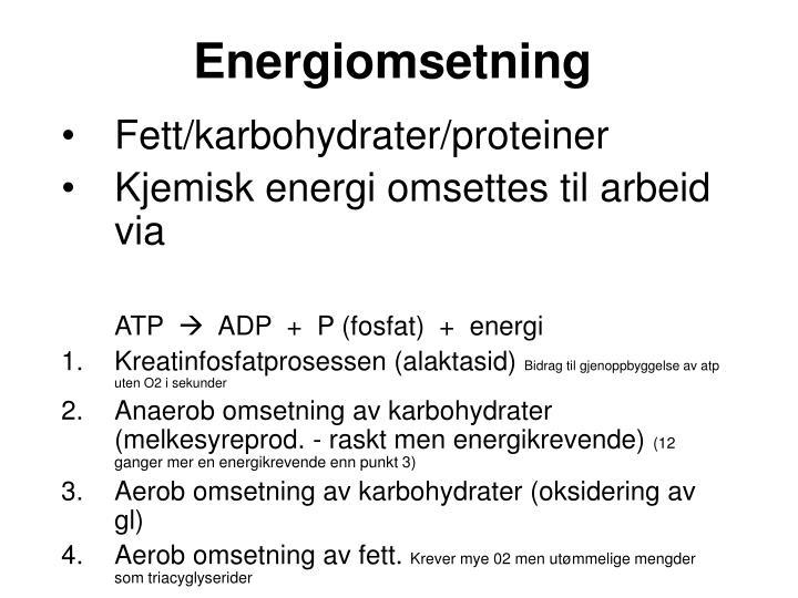 Energiomsetning
