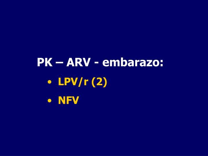 PK – ARV - embarazo: